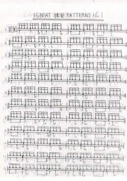 16Beatの練習パターン04