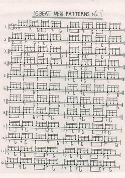 16Beatの練習パターン05