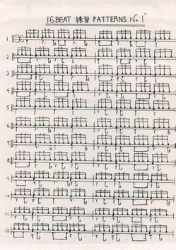 16Beatの練習パターン06