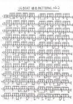16Beatの練習パターン07